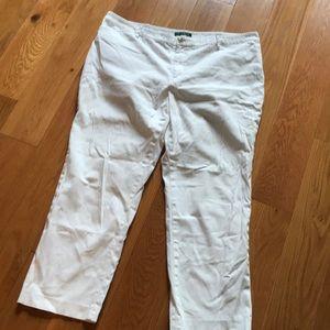 EUC Ralph Lauren 20W white pant